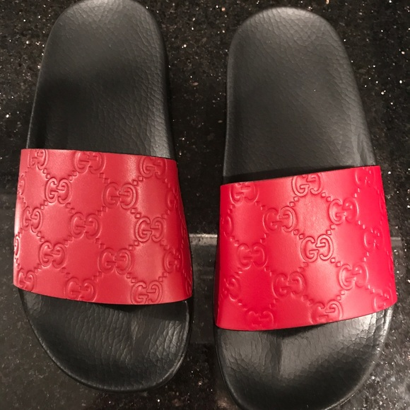c89e719d15f2 Gucci Signature Slide Red (Hibiscus)